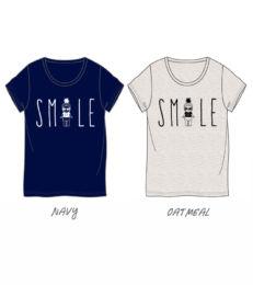 微笑印花T恤